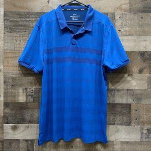 Nike Golf Zonal Cooling XL Blue Polo Shirt